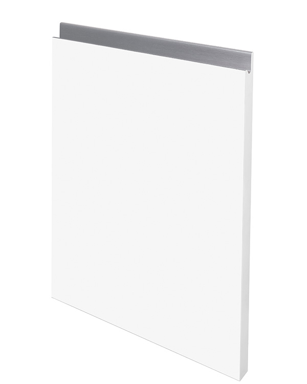 Finger-Pull Supermatt Blanco Perfil aluminio