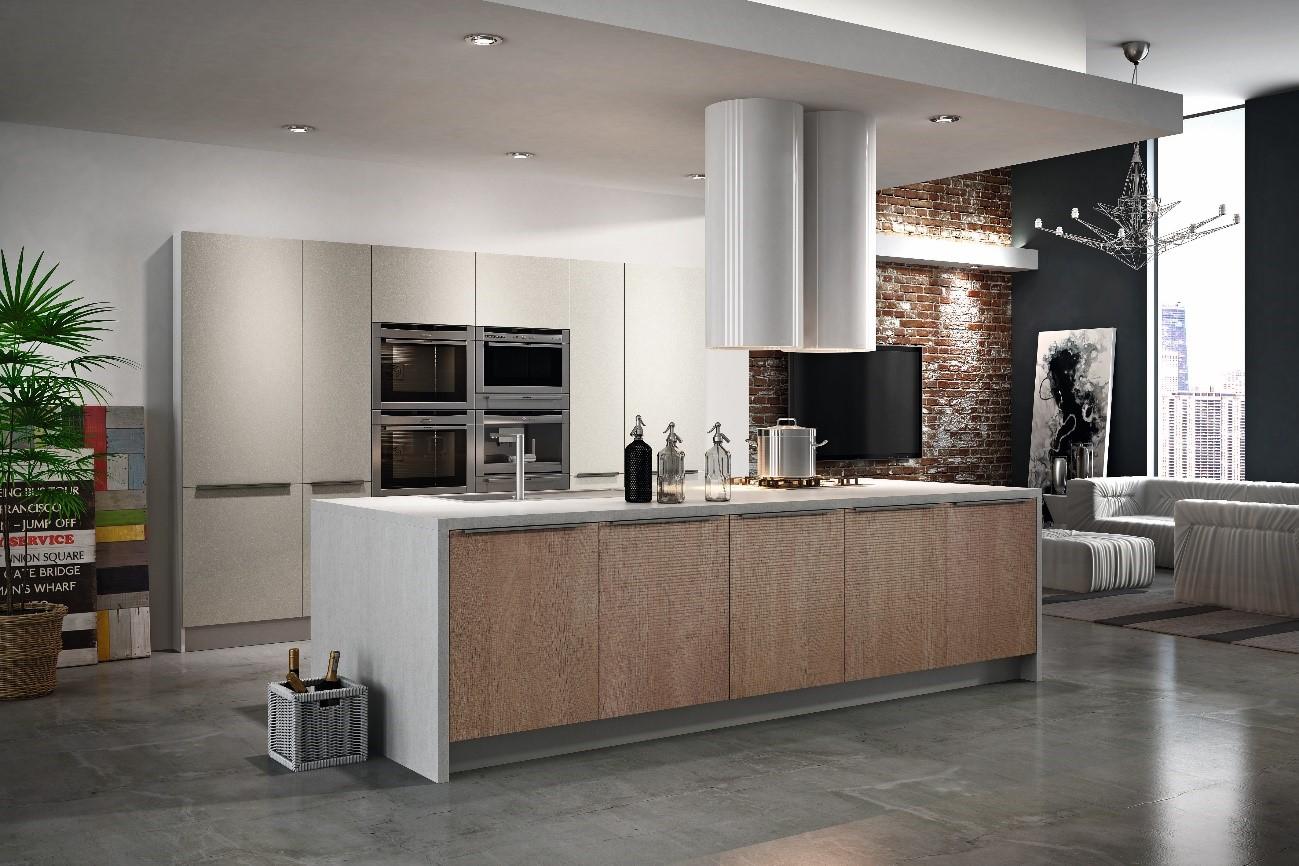 Una cocina moderna conectada al salón - Grupo Alvic